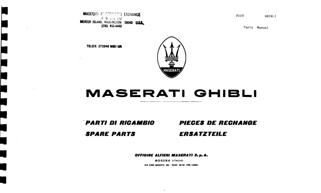 Ghibli Parts Manual Pdf  4 07 Mb